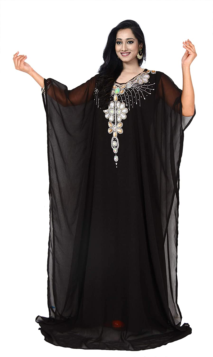 KoC Women Kaftan Farasha Caftan Kimono Long Maxi Dress Summer Cover up Free Size