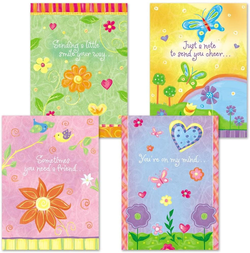 Thinking of You Religious Greeting Cards - Set of 8 (4 designs), Large 5