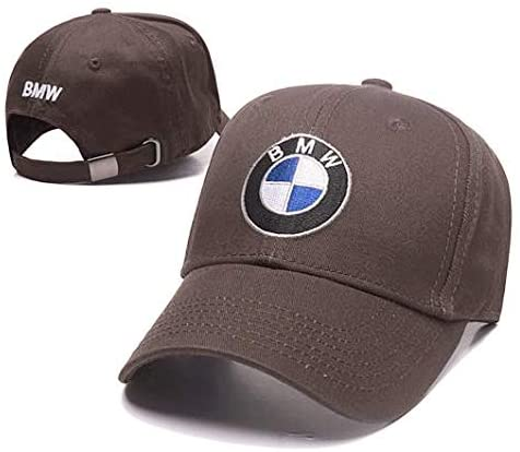 Wall Stickz Wesport Embroidered Logo Solid Color Adjustable Baseball Caps for Men and Women Travel Cap Racing Motor Hat Fit BMW(Gray)
