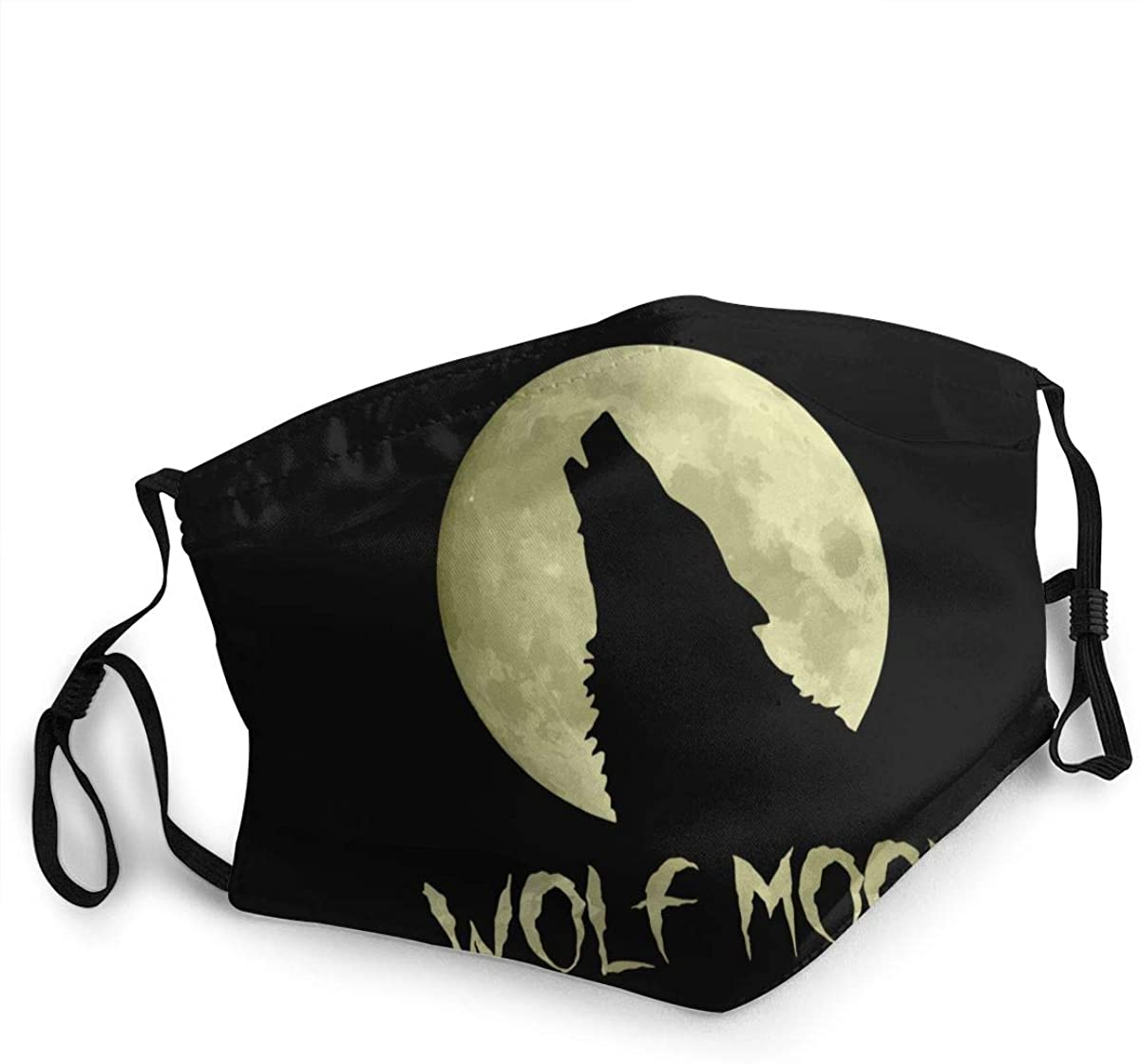 Wolf Moon Face Mask With Adjustable Earloop For Men And Women