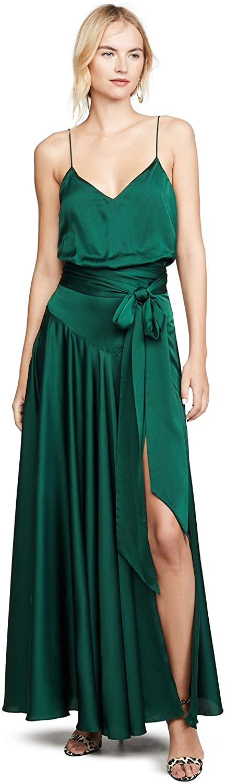 Fame and Partners Womens Blouson Tie Waist Dress