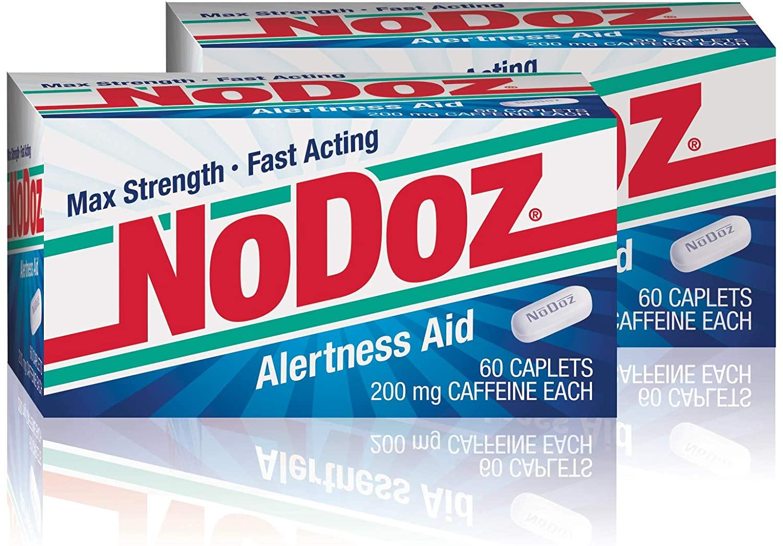 NoDoz 200mg Maximum Strength Alertness Aid, 60 Caplet Twin Pack