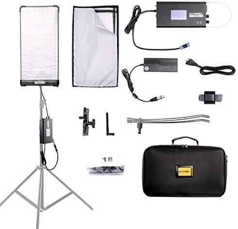 SOONWELL Flexible LED Light Mat FB-21 2' x 1' 3000K-5600K Bi-Color Pliable Flexible High CRI LED Light Mat with Softbox for Video and Photo Photograhers & Filmmakers