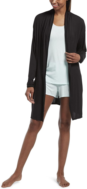 HUE Women's Sleepwell With Temptech Sleep Cardigan Robe