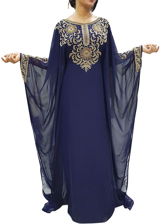African Boutique Farasha Jalabiya Long Women Chiffon Abaya Dubai Kaftan