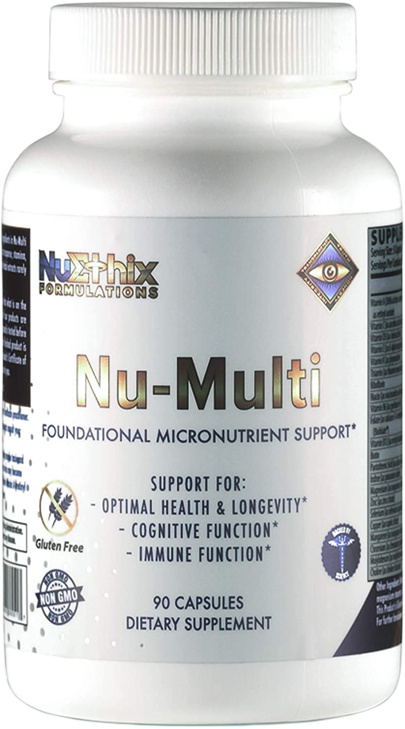 NuEthix Formulations Nu-Multi Foundational Micronutrient Support for Immune Function, Optimal Health and Longevity, Cognitive and Immune Function, 90 Capsules