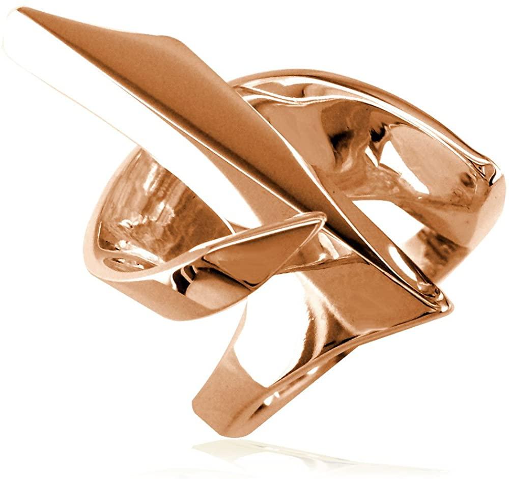 SZIRO Large Designer Ring, 31mm in 18k Pink, Rose Gold