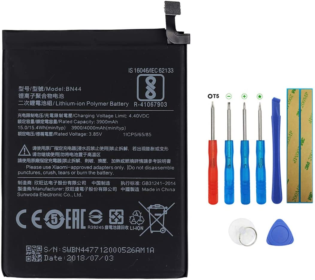 Swark Battery BN44 Compatible with Xiaomi Redmi note5 Redmi 5 Plus with Tools