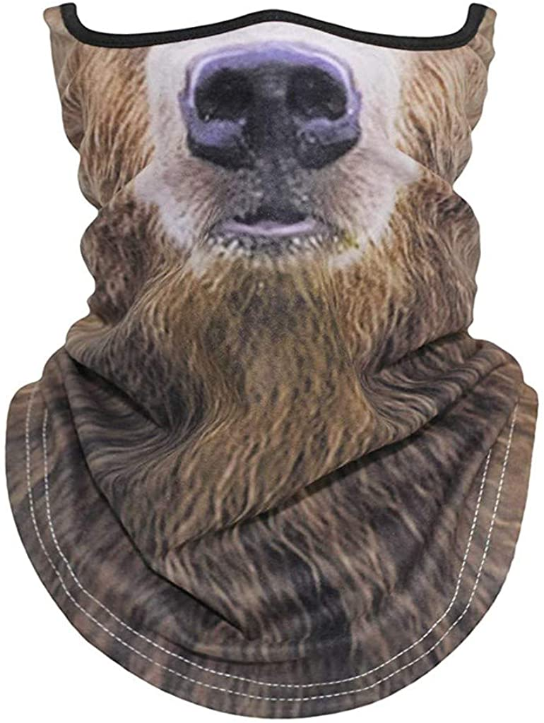 3D Animal Bandana Buffs Neck Gaiter Headband Cycling Fishing Balaclava Face Mask