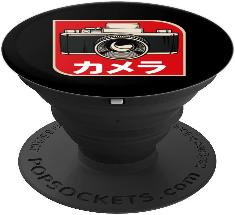 Japanese Analog Camera Film Retro Photographer Photography PopSockets Grip and Stand for Phones and Tablets