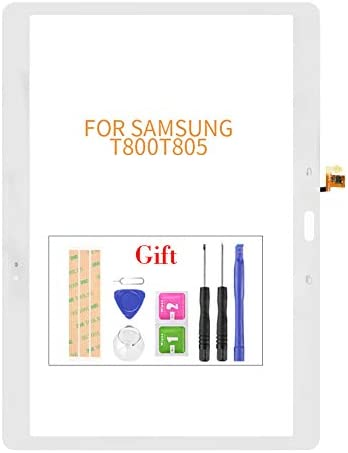 Compatible with Samsung Galaxy Tab T800 Touch Screen Replacement,for Samsung Galaxy Tab S T800 T805 Touch Screen Digitizer Glass Panel Replacement,with Tape+Tools (White)