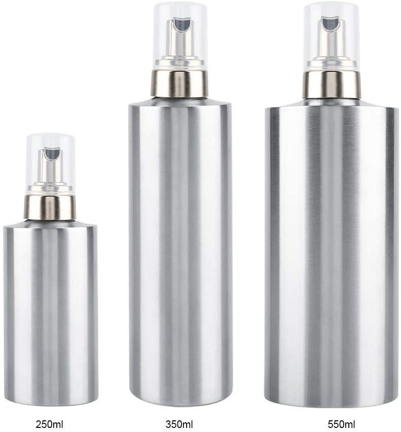 Hakeeta 3 Foaming Soap Dispenser, Stainless Steel Lotion Dispenser, Soap Container, Liquid Pump Bottle.Great for Shampoo,Lotions,Liquid Soaps,Shower Gel.(550ml)