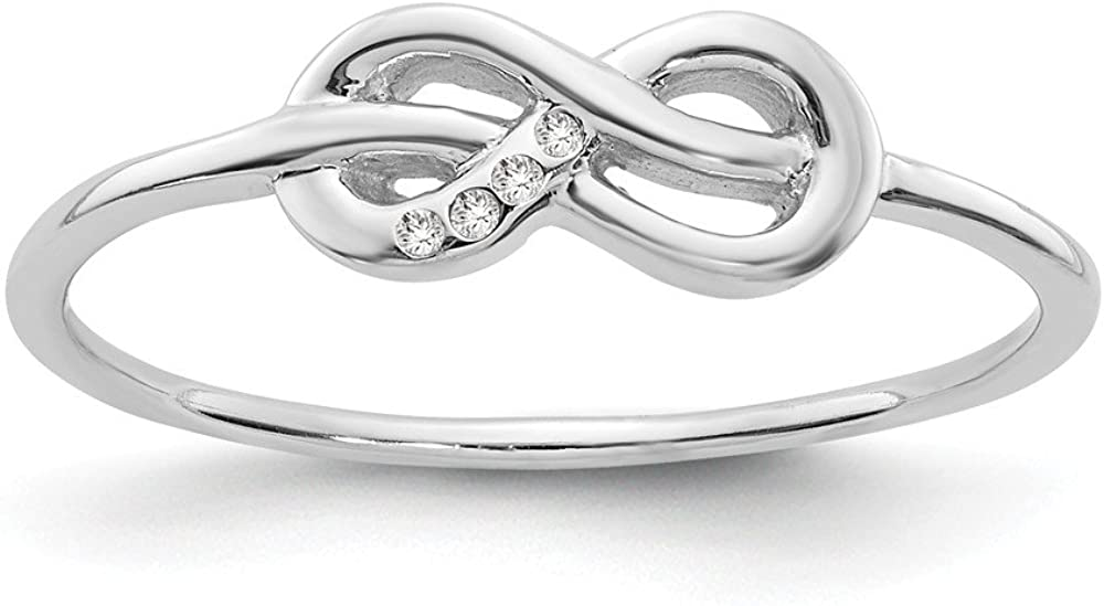 925 Sterling Silver Infinity Diamond Band Ring Fine Jewelry For Women Gifts For Her