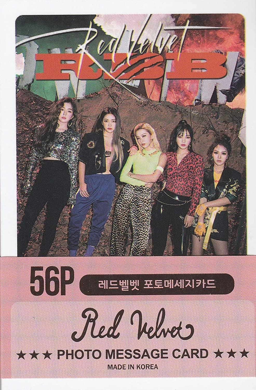 K-POP Group 2020 New Photo Message Card 56pcs set (Postcard / 56sheets) (REDVELVET)