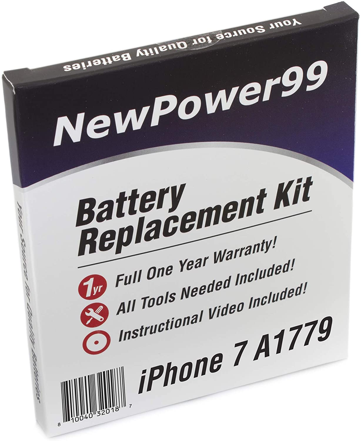 Battery Kit for iPhone 7 A1779 with Battery, Video and Tools from NewPower99