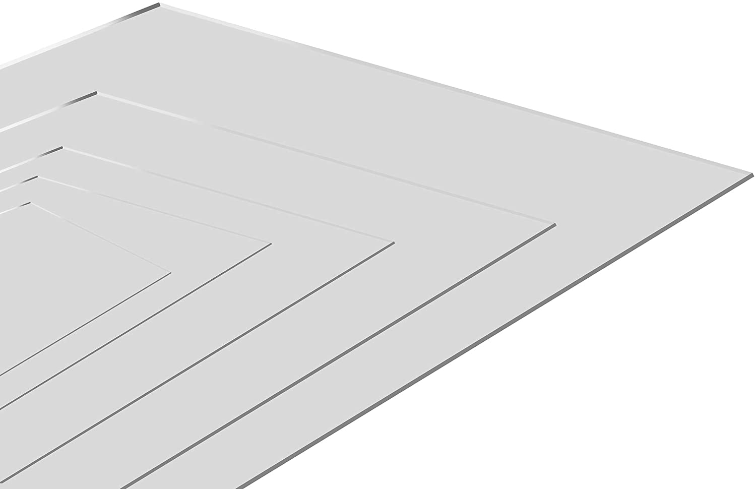 2.0 mm Ultra-Transparent Acrylic Plexiglass Photo Size Sheet Picture Frame Replacement Glass 6x8 inches Pack of 10 Pcs.