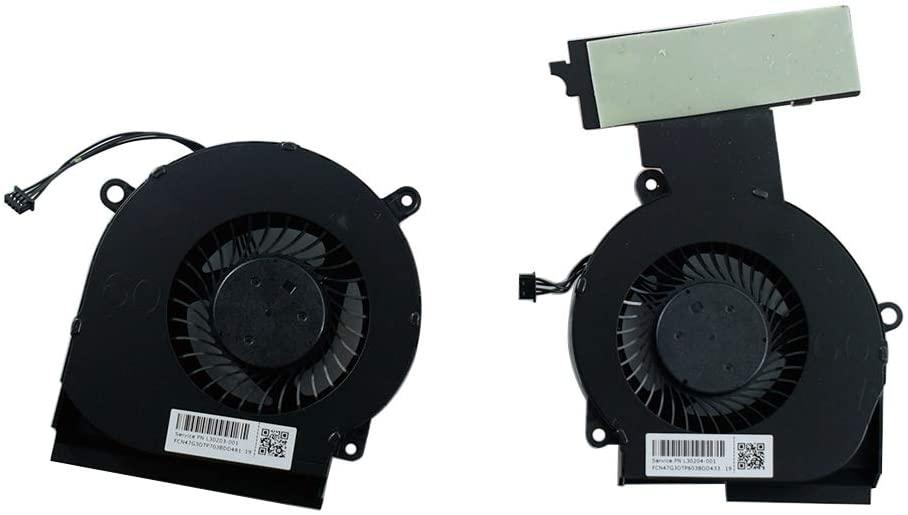 Rangale CPU&GPU Cooling Fan for HP Omen 15-DC 15-DC0013TX 15-DC0004TX 15-DC0005TX 15-DC0007TX 15-DC0011TX 15-DC0123TX 15-DC0153TX Series Laptop L&R Cooler L30204-001 L29354-001 NFB75A05H-007 FSFA18M