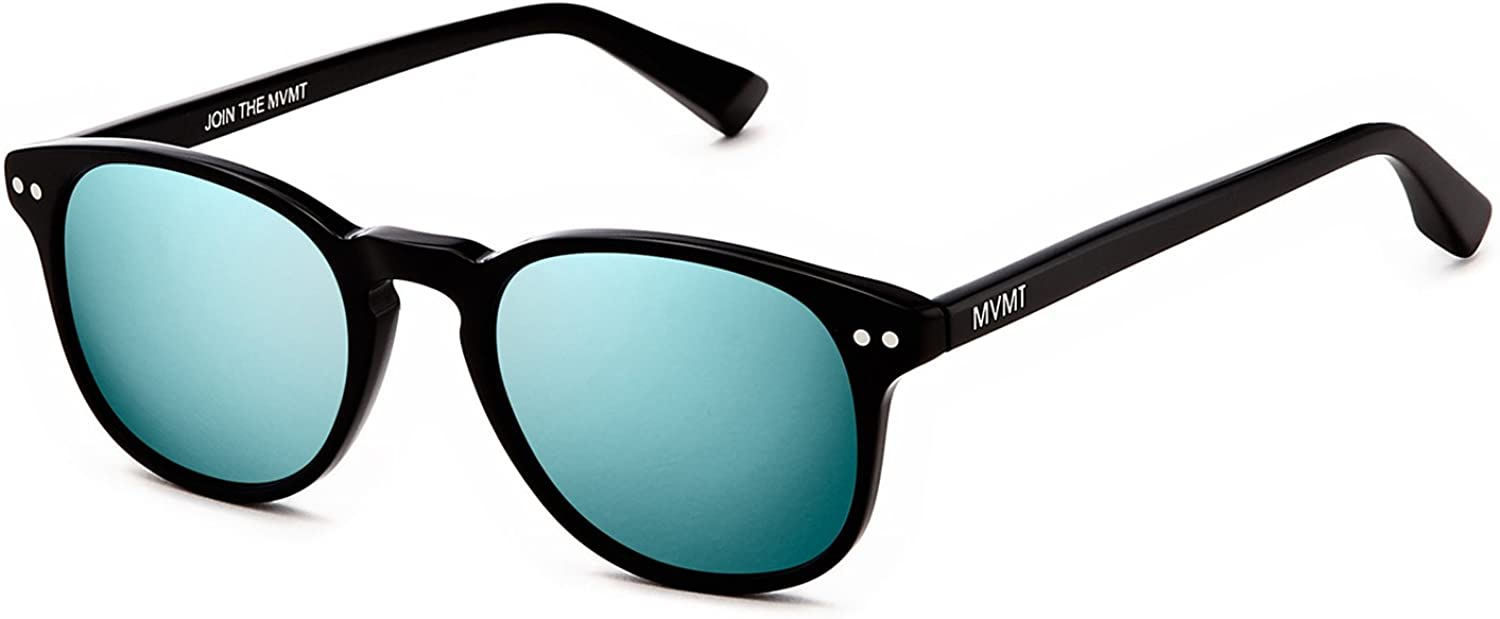 MVMT Hyde | Polarized Rectangular Women's & Men's Sunglasses | Pure Black | 50 mm