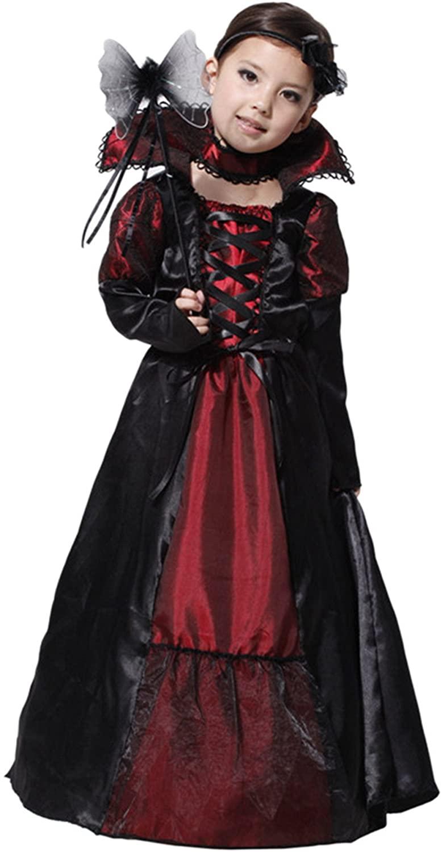 Biwinky Kids Girls Gothic Vampiress Costume Halloween Cosplay Clothing