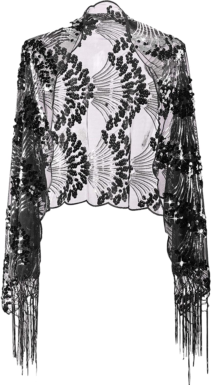 Alivila.Y Fashion Women Peacock Phoenix Embroidery Sequins Wedding Scarf Shawls
