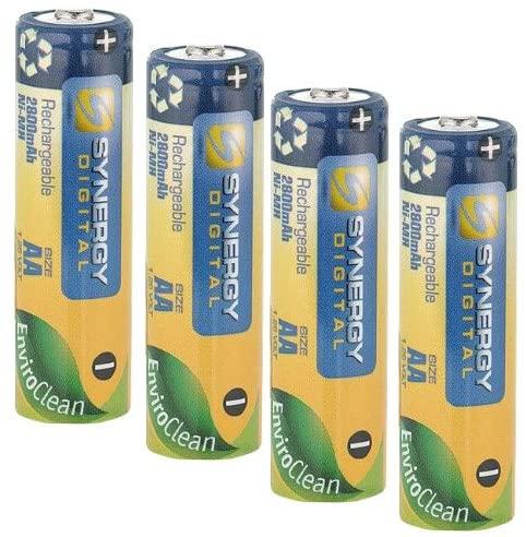 Synergy Digital 4 AA NiMH 2800mAh Rechargeable Batteries