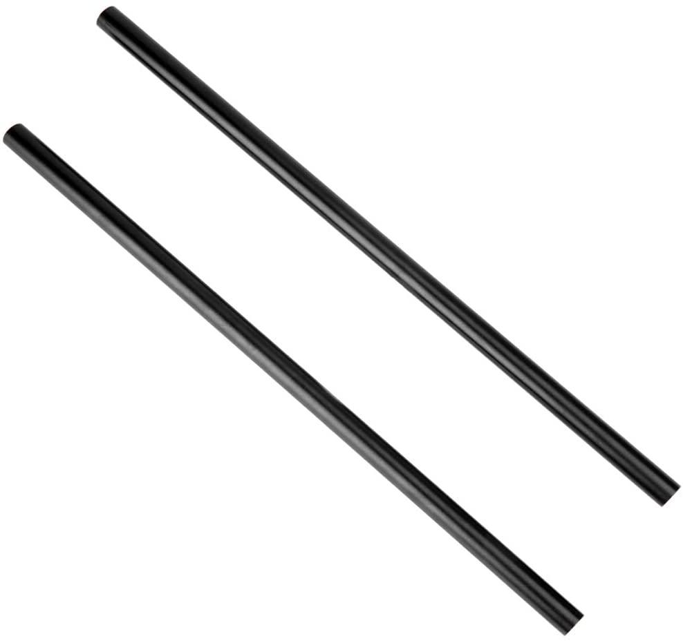 NICEYRIG 15mm Rod 16 Inch (40CM) Long for Shoulder Rig Rod Support System, Black Aluminum Alloy, Pack of 2-171