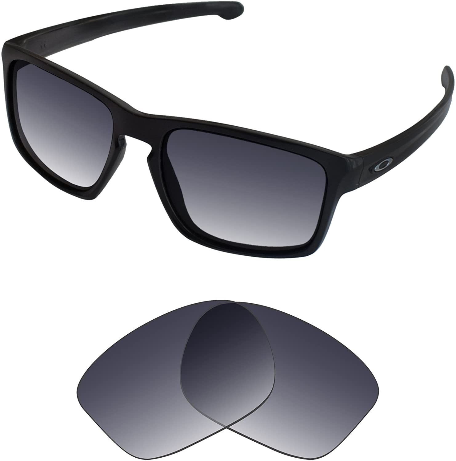 Tintart Performance Lenses Compatible with Oakley Sliver - Grey Gradient