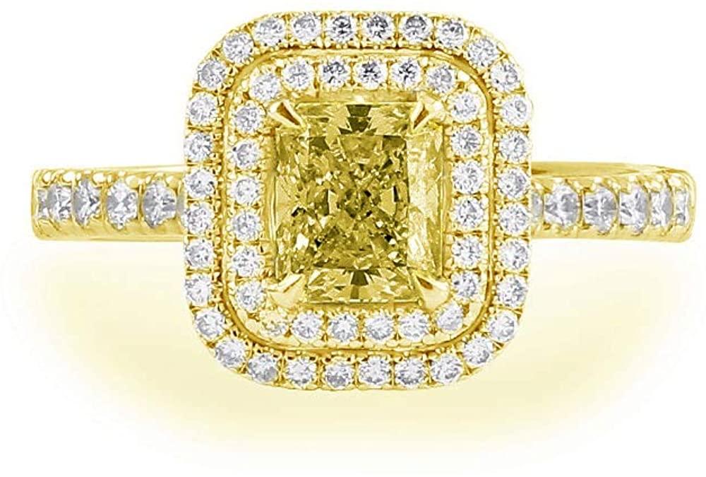 14K White Gold Engagement Ring 1-1/5 Carat(ctw) Rectangular Moissanite Wedding Ring for Women 10K 18K Yellow Gold Proposal Ring Personalized Custom Name Ring
