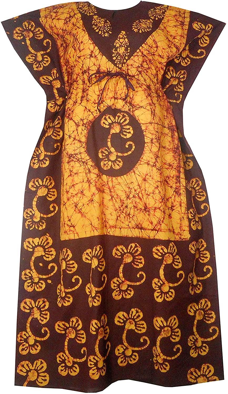 Decoraapparel moomoo Kaftan Dresses for Women African Plus Size Casual Long Tie Dye Batik Beach wear Caftan Maxi Lounger