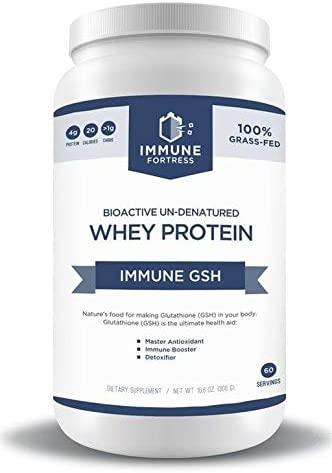 IMMUNE FORTRESS GLUTATHIONE (GSH) - BIOACTIVE UN-DENATURED WHEY Protein