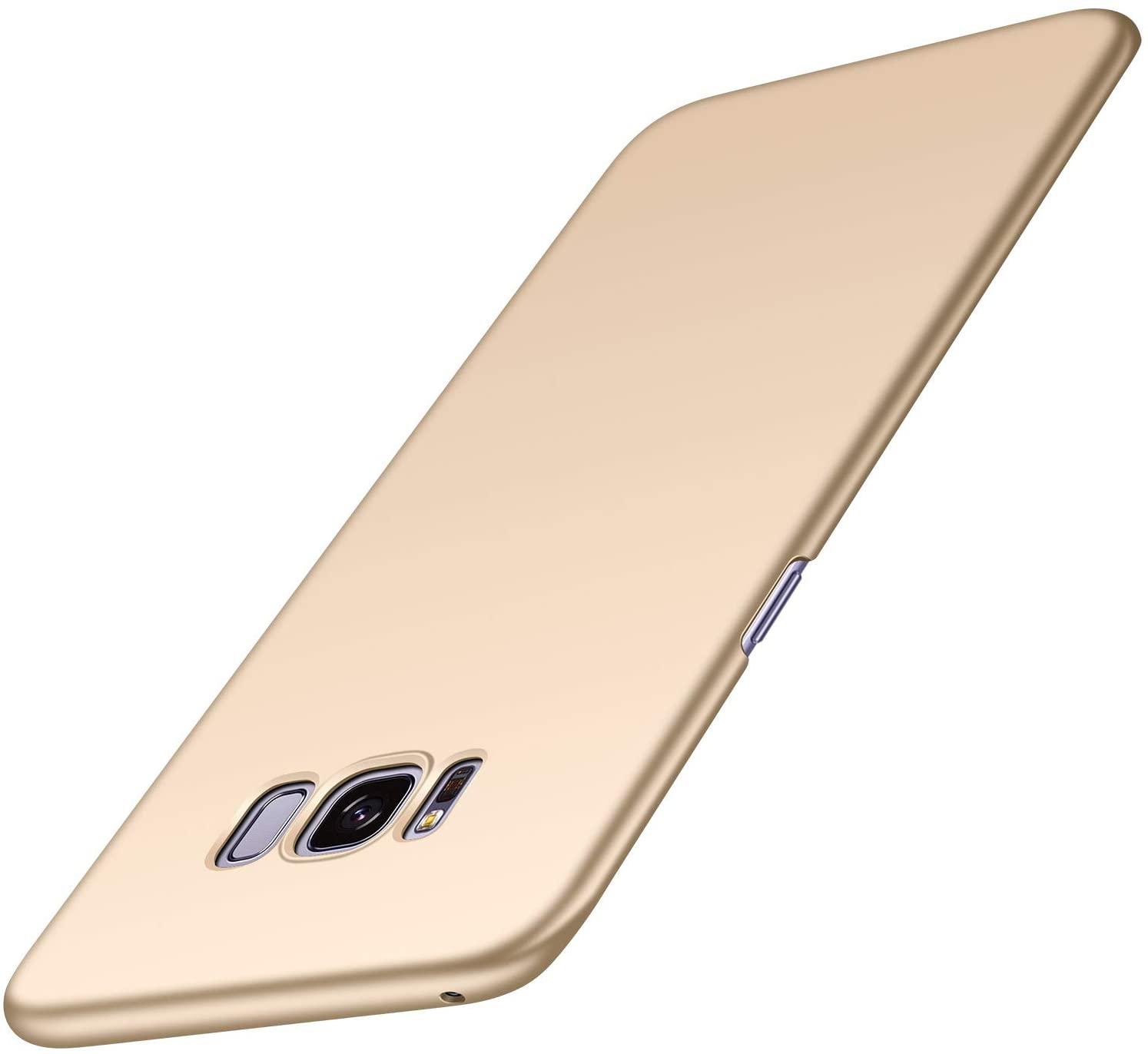 Almiao Samsung Galaxy S8+ Plus Case, [Ultra-Thin] Minimalist Slim Protective Phone Case Back Cover for Samsung Galaxy S8 Plus (Smooth Gold)