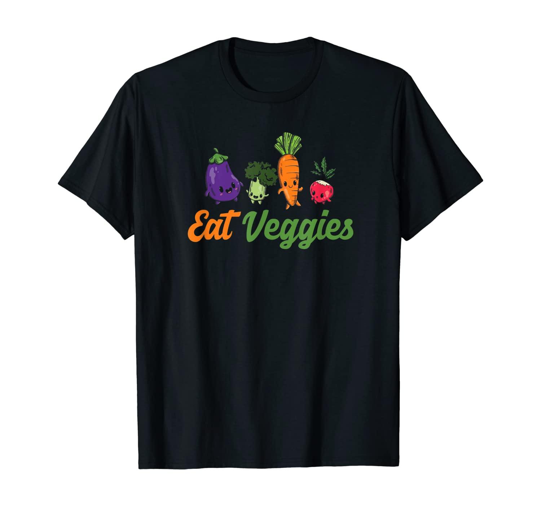 Eat Veggies Vegetarian Vegans Food Veganism T-Shirt