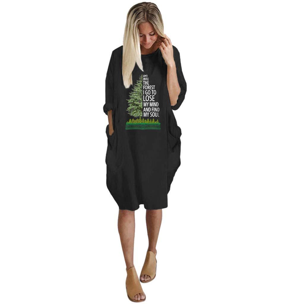 Women Summer Long Sleeve Printed Short Mini Dress Dress Long Sleeve Women Fashion Casual Print Party