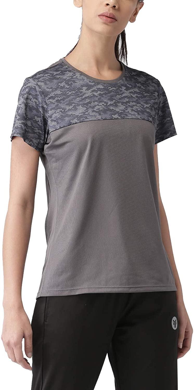 2Go Activewear Women's Animal Print Slim Fit Sports T-Shirt