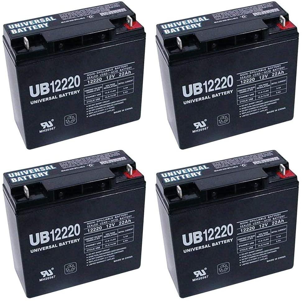 Universal Power Group 12V 22Ah Half U1 Wheelchair Scooter Battery - 4 Pack