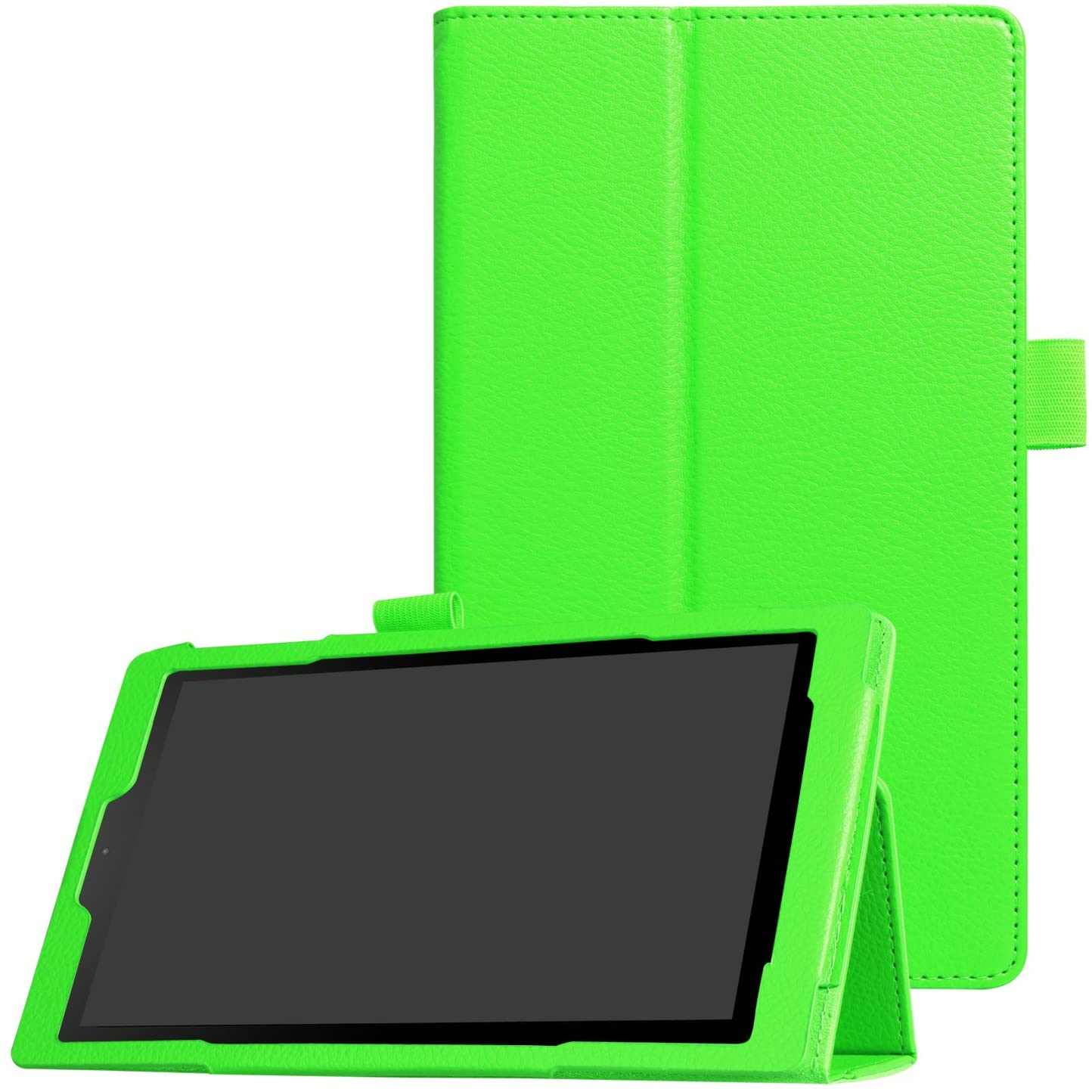 Asng All-New Fire HD 8 2018/Fire HD 8 2017/Fire HD 8 2016 Case - Premium PU Leather Folio Stand Cover Case with Auto Wake/Sleep for All-New Fire HD 8 (8th / 7th / 6th Generation) (Green)