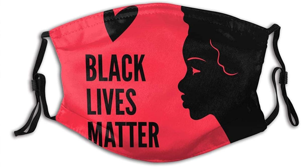 BLM Black Lives Matter Face Mask With 2 Pcs Filters Reusable Face Bandanas Balaclava Cloth Fabric Masks