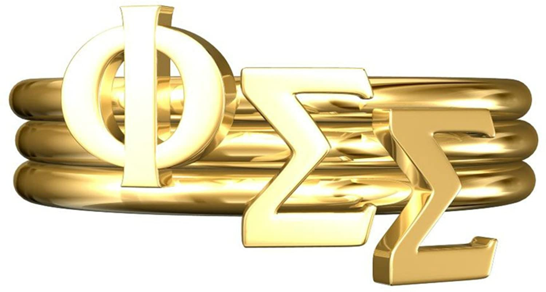 A-List Greek Phi Sigma Sigma Sorority Stack Rings