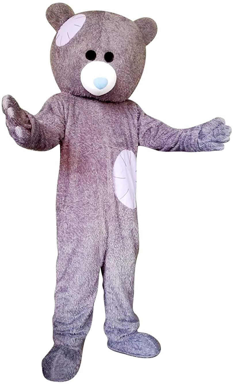 Patch Bear Mascot Costume Cartoon Fancy Party Halloween Cosplay Dress Adult