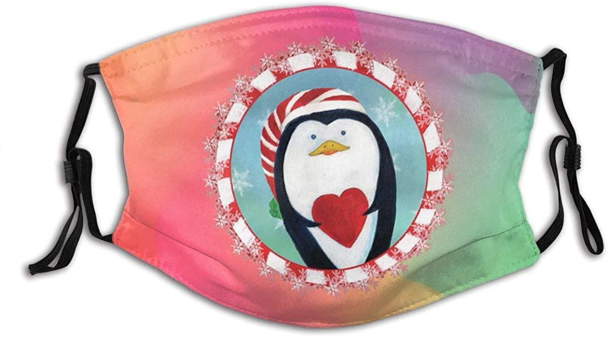 Arctic Iceberg Penguin Animal Print Washable Mask Bandana Balaclava