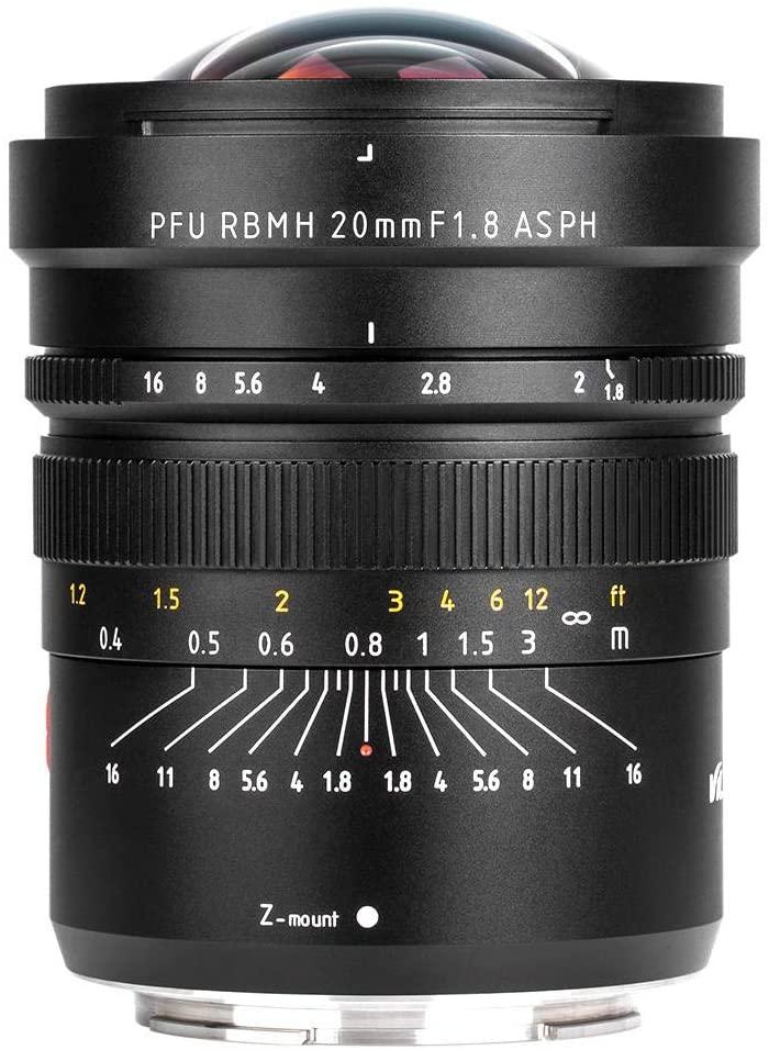 Serounder 20mm F1.8 Lens,Professional Optical Glass + Aluminium Alloy Full Frame Manual Focus Camera Lens for Nikon Z6 Z7 and Other Z Mount Cameras