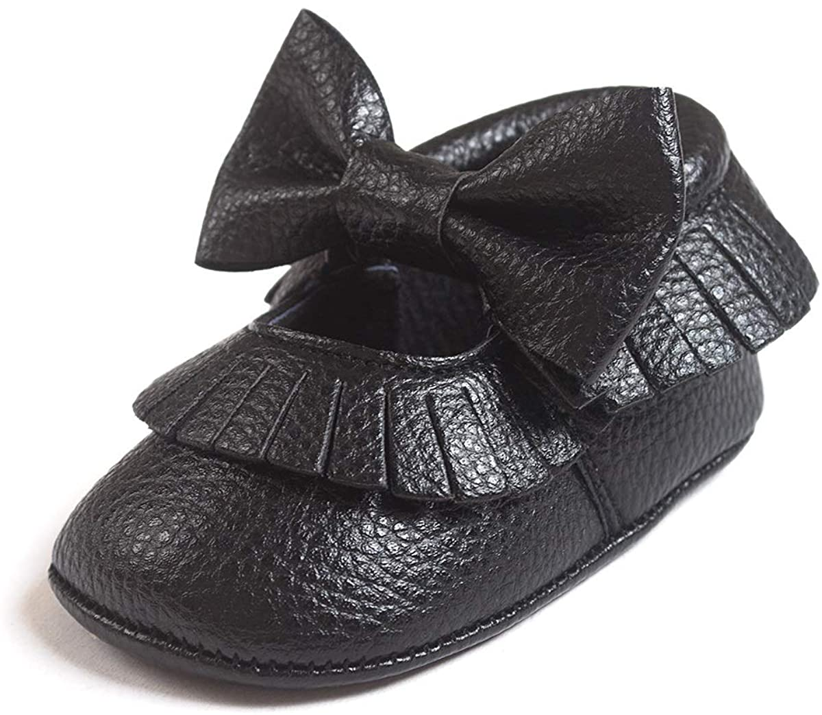 Infant Toddler Baby Girls Soft Sole Tassel Bowknot Moccasins Crib Shoes Mary Jane Flat Shoes Slippers