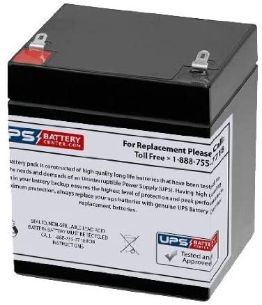 12V 5Ah F1 Compatible Battery for BB BP4.5-12 by UPSBatteryCenter