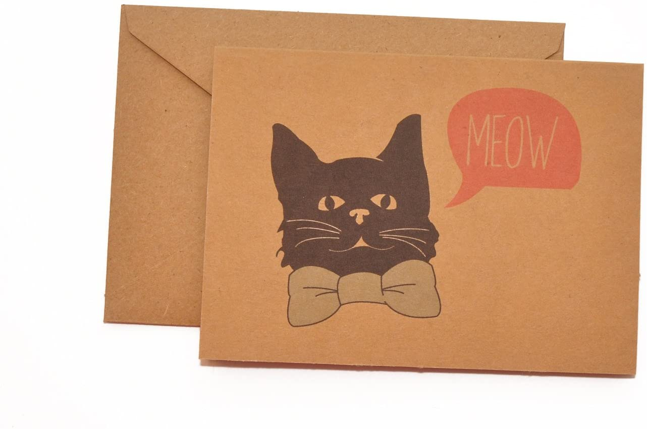 Bowtie Cat Stationery Note Card Set