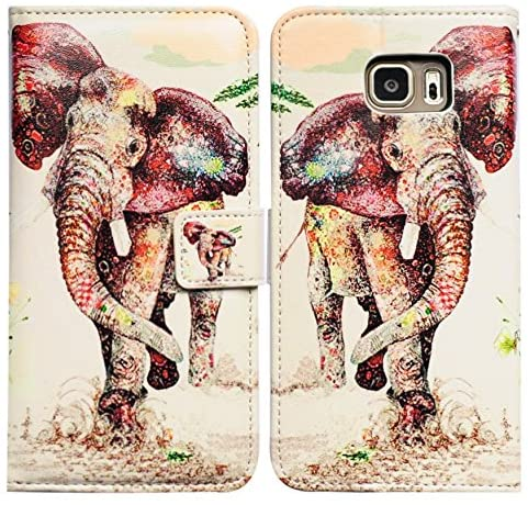 Bfun Packing Bcov Elephant Pattern Leather Wallet Cover Case for Samsung Galaxy S5 GS5