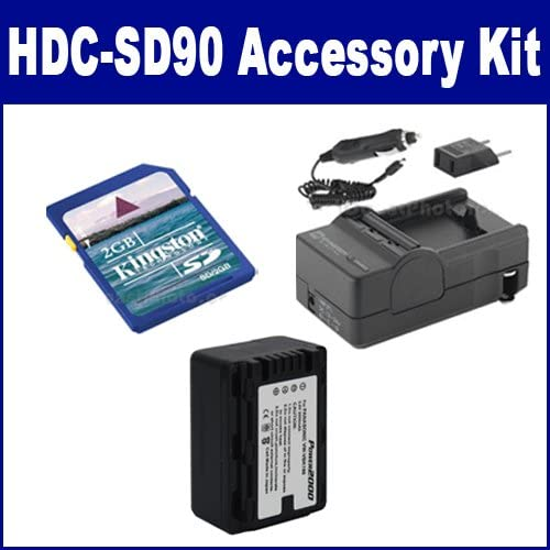 Panasonic HDC-SD90 Camcorder Accessory Kit includes: ACD776 Battery, SDM-1529 Charger, KSD2GB Memory Card