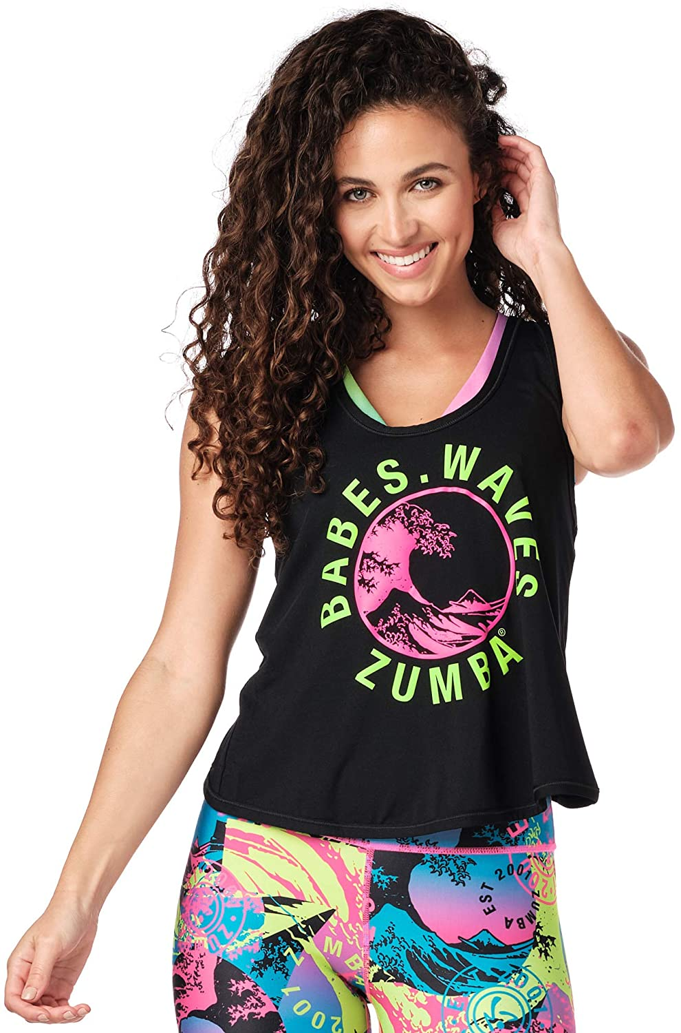 Zumba Workout Cross Back Sexy Tank Tops for Women Graphic Print Open Back Tops,