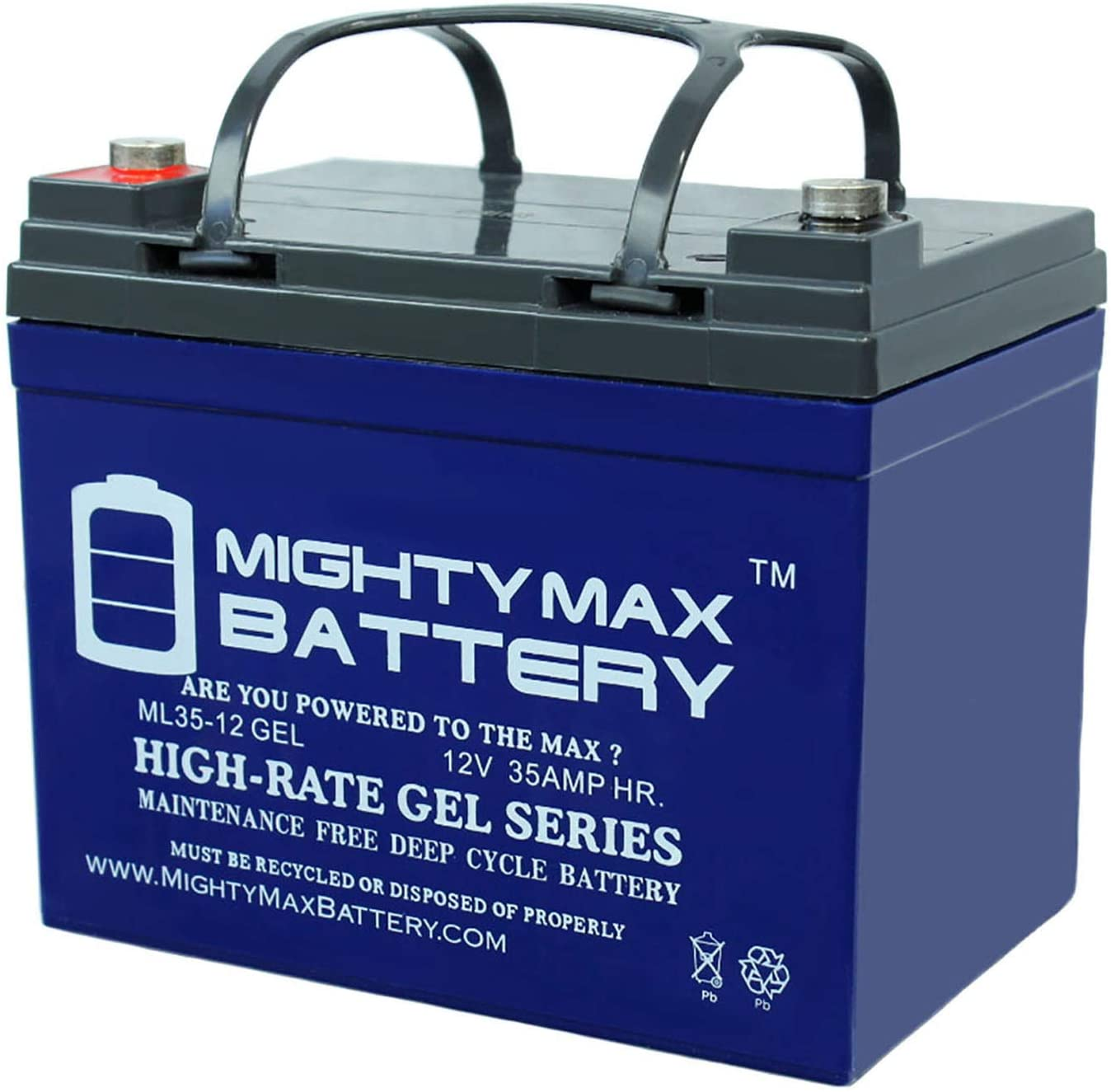 Mighty Max Battery 12V 35AH Gel Battery for Pride Mobility Jazzy 1103 Wheelchair Brand Product