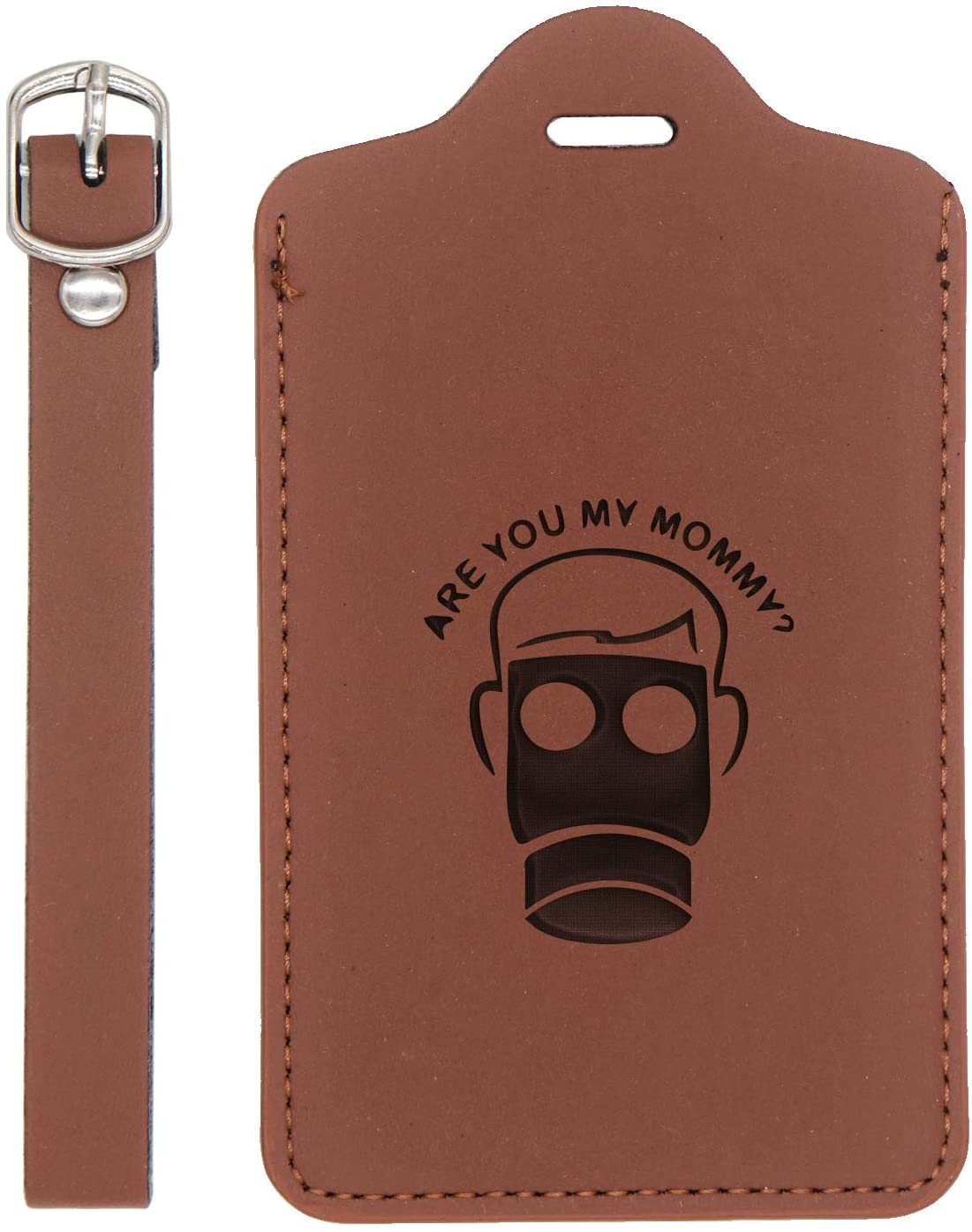 Doctor Who Are You My Mommy Engraved Synthetic Pu Leather Luggage Tag (Chestnut Brown) - Handcrafted By Mastercraftsmen - For Any Type Of Luggage