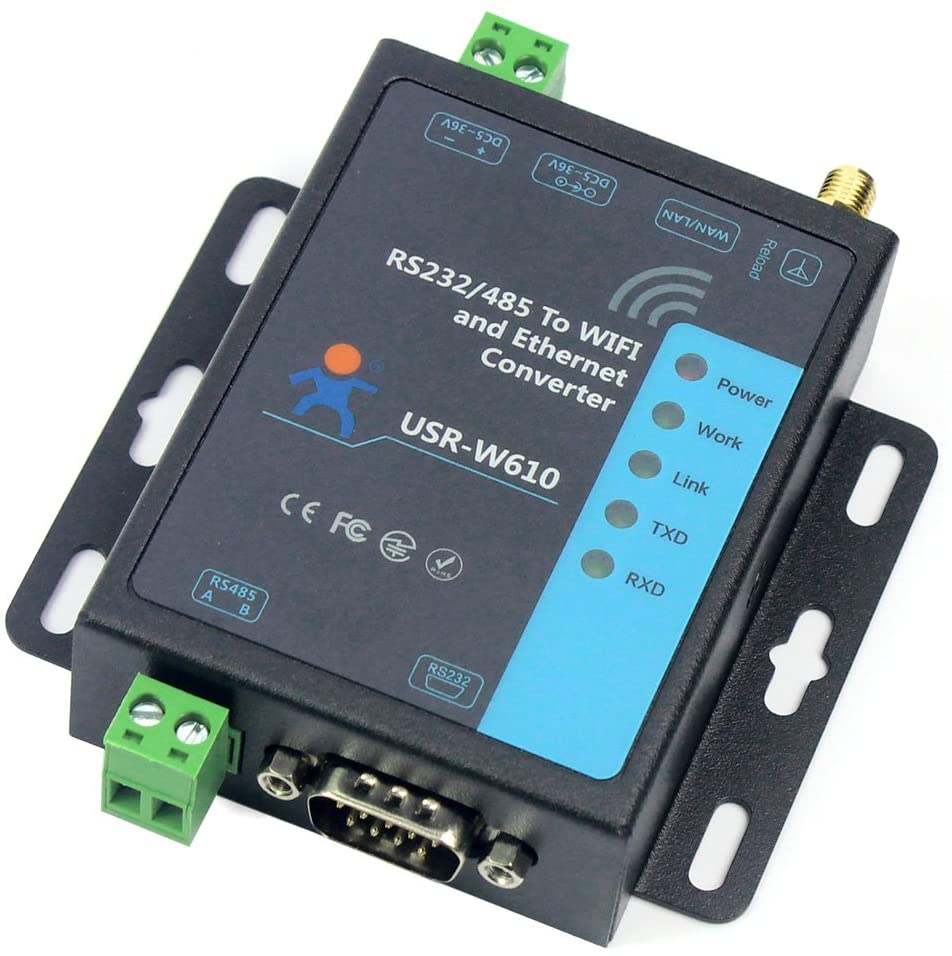 BGNing Serial to WiFi Ethernet Wireless Converter RS232 RS485 Serial Server (USR-W610)